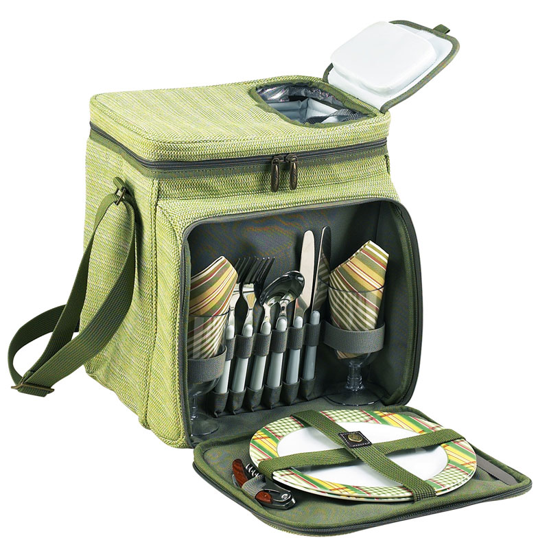 Equipped Picnic Cooler for Two