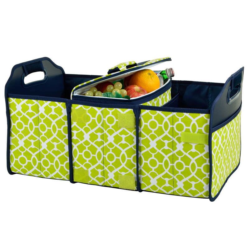 Collapsible Trunk Organizer with 21 Can Cooler