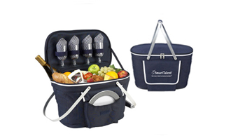 Collapsible Insulated Picnic Basket for 4