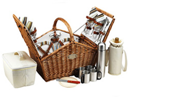 Huntsman Basket for 4 w/coffee service