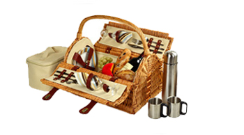 Sussex Picnic Basket for 2 w/Coffee